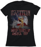 Juniors: Led Zeppelin - America 1977 T-Shirts