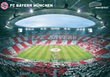 Allianz Arena Innenraum 360&#176; Kunstdruck