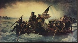 Washington Crossing the Delaware Reproduction transférée sur toile par Emanuel Gottlieb Leutze