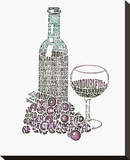 Red Wine (bottle) Stretched Canvas Print