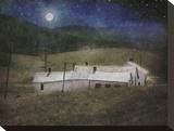 Adam's Farm Stretched Canvas Print by Dawne Polis