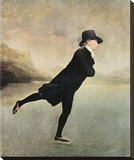 Reverend Walker Skating Reproduction transférée sur toile par Sir Henry Raeburn