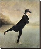 Reverend Walker Skating Lærredstryk på blindramme af Sir Henry Raeburn