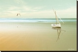 Soft Sunrise on the Beach, no. 1 Stretched Canvas Print by Carlos Casamayor