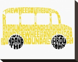The Wheels on the Bus Stretched Canvas Print