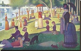 Sunday Afternoon on the Island of Grand Jatte, c.1864-6 Stretched Canvas Print by Georges Seurat