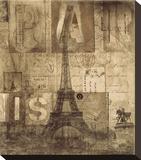 Paris Valentine Stretched Canvas Print by Dawne Polis
