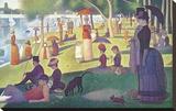 A Sunday on La Grande Jatte 1884, 1884-86 Kunstdruk op gespannen doek van Georges Seurat