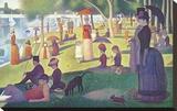 A Sunday on La Grande Jatte 1884, 1884-86 Trykk på strukket lerret av Georges Seurat