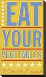 Eat Your Vegetables Stretched Canvas Print by John Golden
