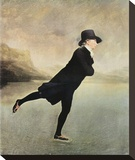 Reverend Walker Skating Stretched Canvas Print by Sir Henry Raeburn