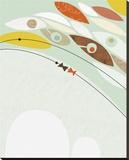 Migration II Reproduction transférée sur toile par Jenn Ski