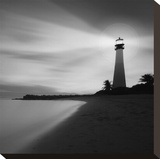 Faro BN Stretched Canvas Print by Moises Levy