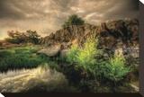Melt Rock Stretched Canvas Print by Bob Larson