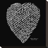 Sonnet 18 Stretched Canvas Print