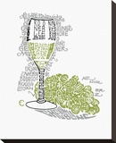 White Wine (glass) Stretched Canvas Print