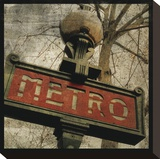 Metro II Stretched Canvas Print by John Golden