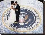 President Obama and the First Lady Stretched Canvas Print