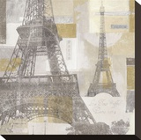 Eiffel Tower III Stretched Canvas Print by Pela &amp; Silverman 