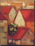 Rooftops I Stretched Canvas Print by Eric Balint