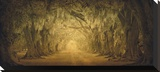 Evergreen Old Allee Study 1 Reproduction transférée sur toile par William Guion