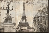 Paris I Stretched Canvas Print by  Pela & Silverman