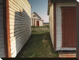 First Settlement Reproducción de lámina sobre lienzo por Derek Jecxz