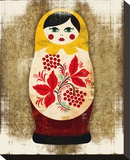 Matryoshka, Russian Doll Elena Stretched Canvas Print