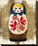 Matryoshka, Russian Doll Katya Stretched Canvas Print