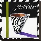 Zebra Mug I Stretched Canvas Print by Cathy Hartgraves