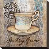 Coffe Cup Aroma Stretched Canvas Print by Alan Hopfensperger