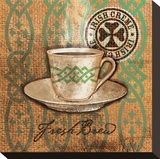 Coffee Cup Brew Stretched Canvas Print by Alan Hopfensperger