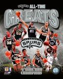 San Antonio Spurs All-Time Greats Composite Photo