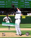 Felix Hernandez throws a Perfect Game Safeco Field August 15th, 2012 with Overlay Photo