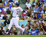 Adrian Gonzalez hits a Home Run in his 1st at bat as a Dodger- August 25, 2012 Photo