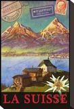 Switzerland, Swiss Mountains, Matterhorn キャンバスプリント : クリス・ヴェスト
