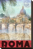 Rome, Saint Peter, Tiber River Stretched Canvas Print by Chris Vest
