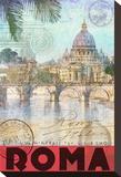 Rome, Saint Peter, Tiber River キャンバスプリント : クリス・ヴェスト