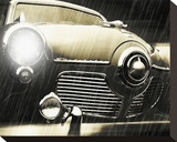 Studebaker Rain Stretched Canvas Print by Richard James