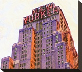 New Yorker Stretched Canvas Print by Richard James