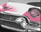 Pink Cadillac Stretched Canvas Print by Richard James