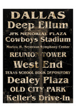 Dallas Print by Carole Stevens