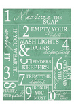 Laundry Rules Posters by Taylor Greene
