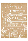 Laundry Rules Prints by Taylor Greene