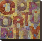 Opportunity Stretched Canvas Print by Louise Montillio