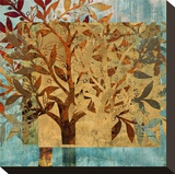 Serendipity Tree II Stretched Canvas Print by Louise Montillio