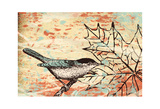 Bird Leaf I Prints by Carole Stevens