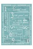 Regels voor op het toilet, Engelse tekst: Bathroom Rules Poster van Taylor Greene