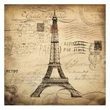 Eco Vintage Paris I Print by Carole Stevens