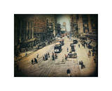 Busy City Street Giclee Print by Dawne Polis